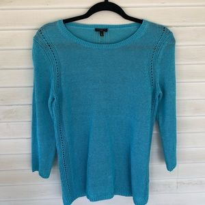 Talbots – Teal 100% Linen Sweater